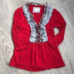 Anthropologie Deletta peplum T-shirt